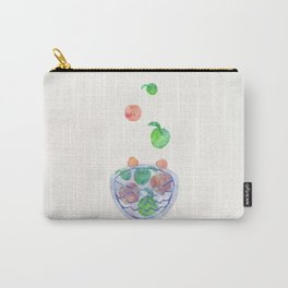 Red and Green Magic Apples in the Bowl Carry-All Pouch