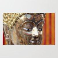 thailand Area & Throw Rugs featuring Thailand Buddha  by Maria Faith Garcia