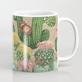 Assorted Blooming Cactus Plants Coffee Mug