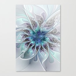Flourish Abstract, Fantasy Flower Fractal Art Canvas Print