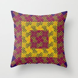 Dot Swatch Equivocated on Purple Throw Pillow