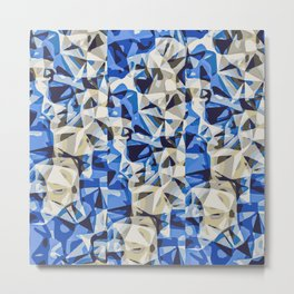 blue black and grey modern abstract background Metal Print