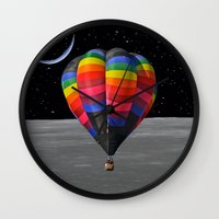 balloon Wall Clocks featuring Balloon by Cs025