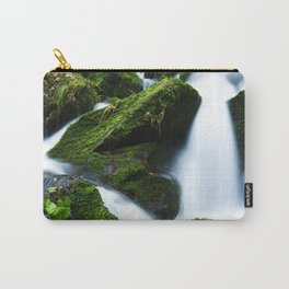Mossy Rock and Water Fall Carry-All Pouch