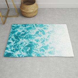 Ocean Water, Sea Foam, Water Pattern, Sea Texture Rug
