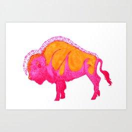 Psychadelic Bison Art Print