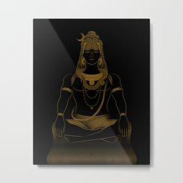 Shiva - Hindu Gods Series Metal Print