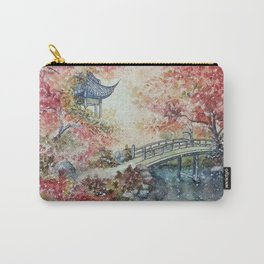 Autumn Morning (Watercolor painting) Carry-All Pouch