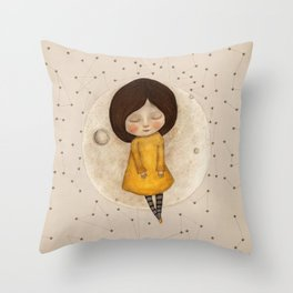 Moon Song 5 Throw Pillow