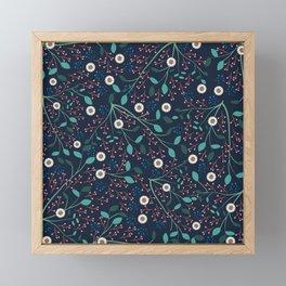 Dense Flora Midnight Framed Mini Art Print