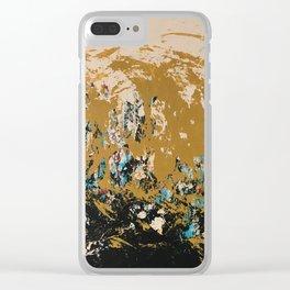 16 x 20 yellow-buff-black-etc Clear iPhone Case