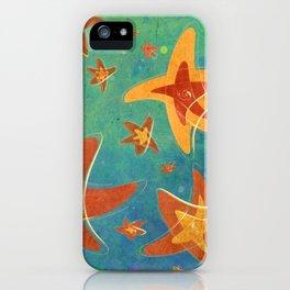 Starry Starfish Night iPhone Case