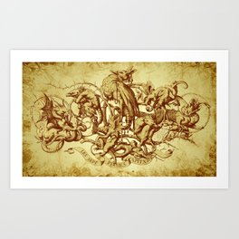 Sins Art Print