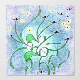 Cosmic Thistles Canvas Print
