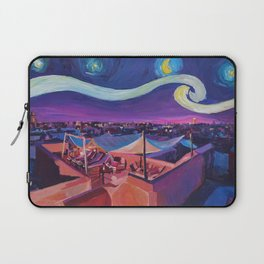 Starry Night in Marrakech   Van Gogh Inspirations on Fna Market Place in Morocco Laptop Sleeve