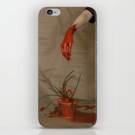 Rootless. Red hand iPhone Skin
