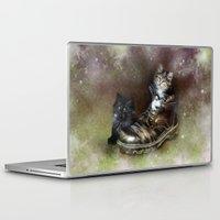 kittens Laptop & iPad Skins featuring Kittens by Julie Hoddinott