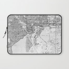 Vintage Map of Tampa Florida (1944) BW Laptop Sleeve