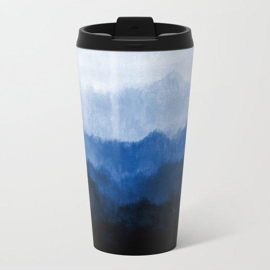 Mists - Blue Metal Travel Mug
