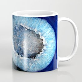 Blue Crystal Geode Coffee Mug