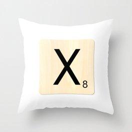 Scrabble X Throw Pillow