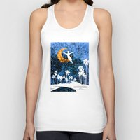 neverland Tank Tops featuring Peter Pan flying through Neverland by Chien-Yu Peng