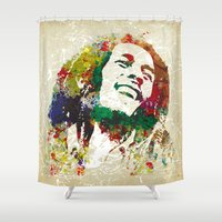 reggae Shower Curtains featuring Reggae Music Man by Gary Grayson