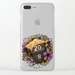 Honeycomb D20 Tabletop RPG Gaming Dice Clear iPhone Case