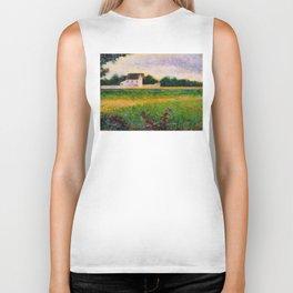 Landscape of the Ile de France Post-Impressionism landscape Oil Painting Countryside Cottages Farm Biker Tank