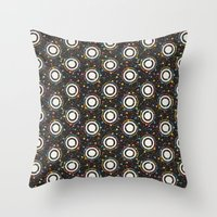 sewing Throw Pillows featuring sewing pins by kociara