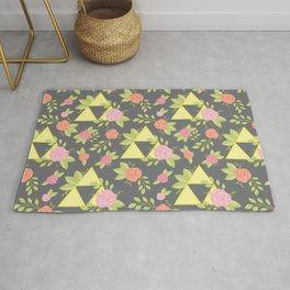Garden of Power, Wisdom, and Courage Pattern in Grey Rug