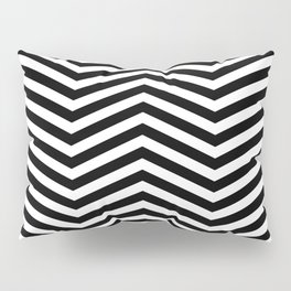 Chevron black white Pillow Sham