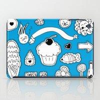sticker iPad Cases featuring Sticker World by Duru Eksioglu