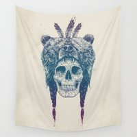 dead Wall Tapestries featuring Dead shaman by Balazs Solti