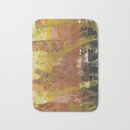 Shades of Gold by Australian Artist Vidy Potdar Bath Mat