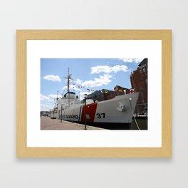 Coast Guard 37 Baltimore Harbor Framed Art Print