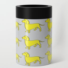 Doxie Love - Grey and Yellow Can Cooler