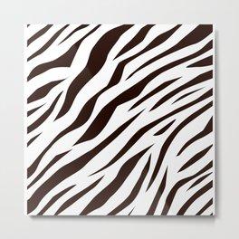 BLACK AND WHITE ANIMAL SKIN DESIGN Metal Print