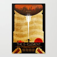 fifth element Canvas Prints featuring The Fifth Element by Fabled Creative - Archive
