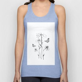 Flowers and butterflies 2 Unisex Tank Top