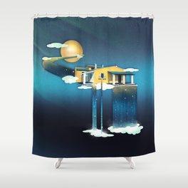 Castle in Heaven Shower Curtain