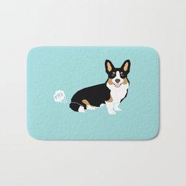 Corgi funny fart dog pure breed gifts dog lovers tricolored corgis Bath Mat