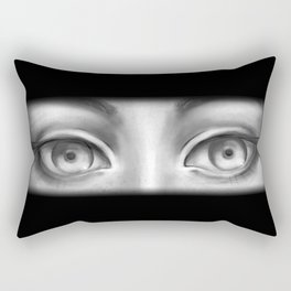 B&W Girl Rectangular Pillow