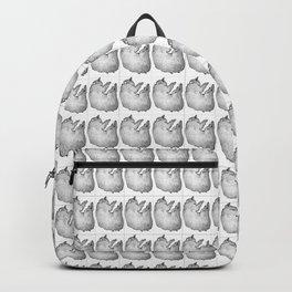 Sketched cat pictured tiled pattern Backpack