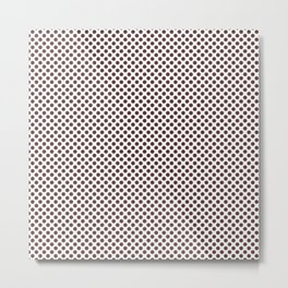 Rum Raisin Polka Dots Metal Print