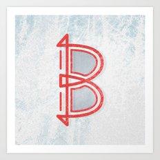letter B - Alphabet Art Print