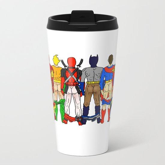 Superhero Butts LV Metal Travel Mug