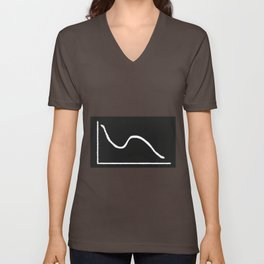 Double Dip Blackboard Graph Unisex V-Neck