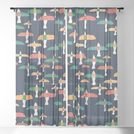 Vintage seagull Sheer Curtain