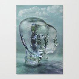 Glasmensch im Internet Canvas Print
